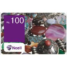 Ncell Rs 100 Card