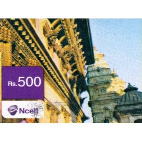 Ncell Rs 500 NPR Card
