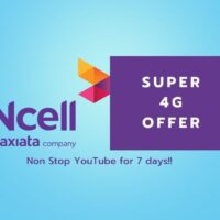 Ncell nonstop YouTube data pack